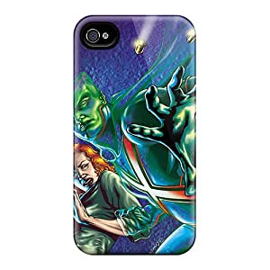 Scratch Protection Hard Cell-phone Cases For Iphone 4/4s (Xmx19707BcbY) Allow Personal Design Attractive Martian Manhunter I4 Image