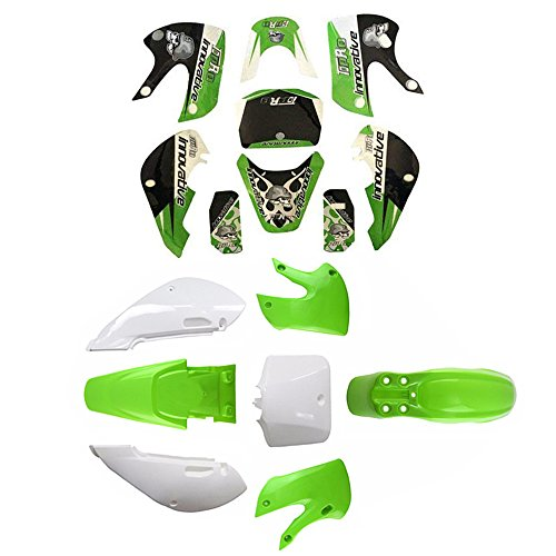 ZXTDR Plastic Body Fender Fairing Kit and Graphic Sticker for Kawasaki Kx 65 KX65