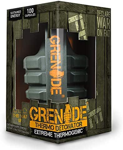 Grenade Fat Burner Supplement | Keto Friendly Green Tea Thermogenic | Energy Booster Weight Loss Management Pills | Thermo Detonator, 100 Capsules