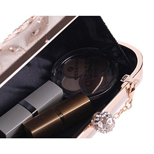 WEATLY Noir Noir Champagne Femme Pochette pour 7tqwrZ7