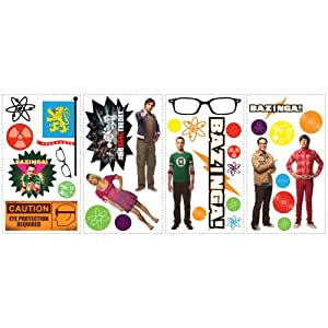 RoomMates RMK2166SCS  Big Bang Theory Peel and Stick Wall Decals