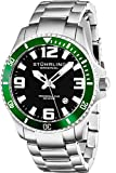 Stuhrling Original Men's 395.33P154 Analog Aquadiver Regatta Champion Swiss Quartz Date Stainless Steel Link Bracelet Dive Watch