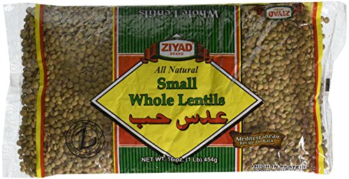 Ziyad All Natural Whole Lentils, Small, 16 Ounce