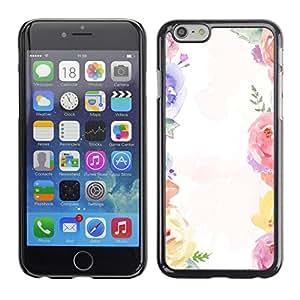For Apple iPhone 6(4.7 inches) Case , Bouquet White Spring Girly - Diseño Patrón Teléfono Caso Cubierta Case Bumper Duro Protección Case Cover Funda