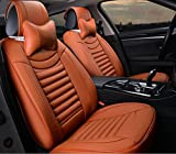 HOMEE@ 3D Car Cushion Four Seasons Cushions Full Of Leather Seat Cover , Orange,orange