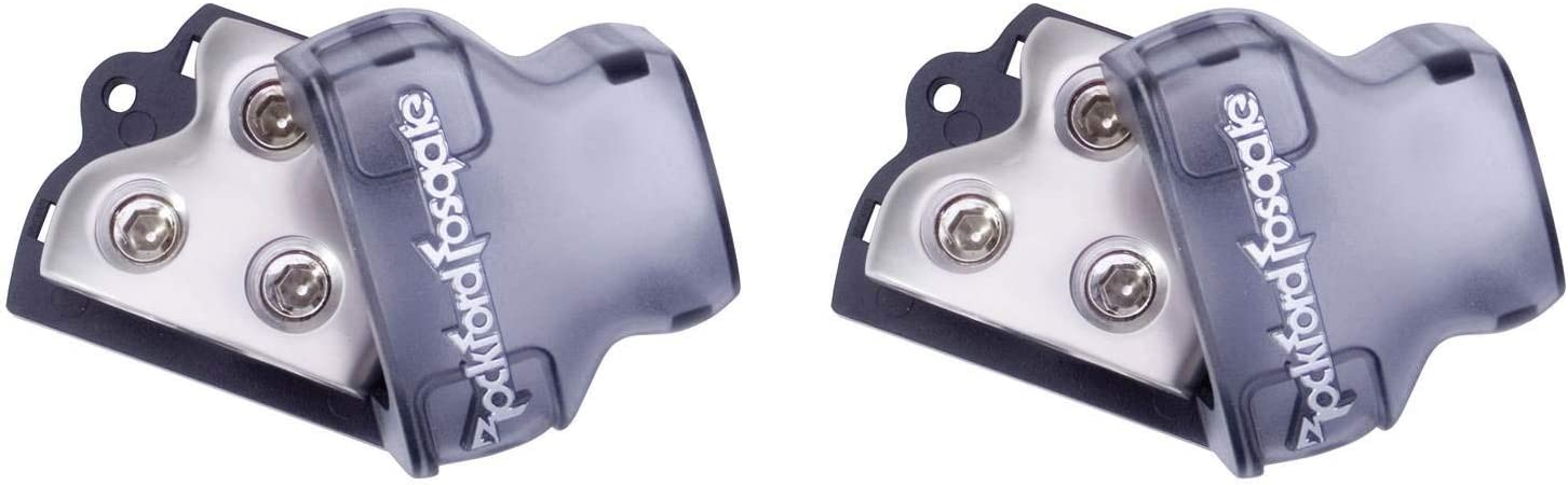 2) ROCKFORD FOSGATE RFD1 0/1/4-Gauge Ga Car Audio Distribution Block 1-In 2-Out 51xw7VsFbuL