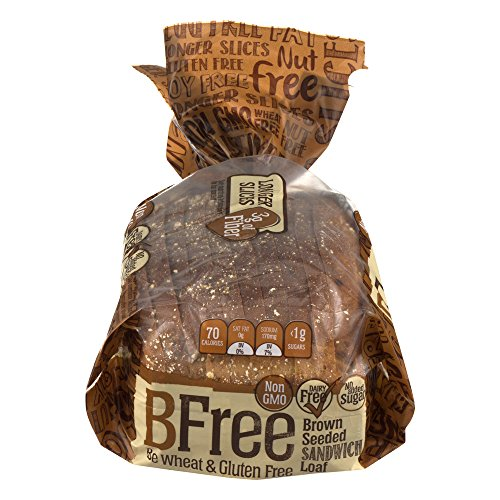 Bfree Gluten Free Sandwich Bread, Seeded Brown, Vegan, Soy Free, Egg Free, Nut Free, Dairy Free, Kosher 14.11 Ounce (Pack of 3)