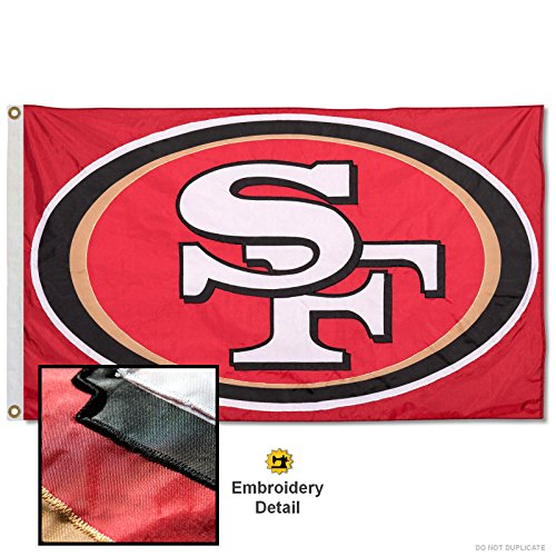 - Wincraft San Francisco 49ers Embroidered Nylon Flag