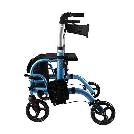 Transporte de ruedas de aluminio Andador Con Bolsa de la ...