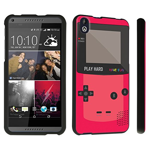 DuroCase ® HTC Desire 816 Hard Case Black - (Gameboy Red)