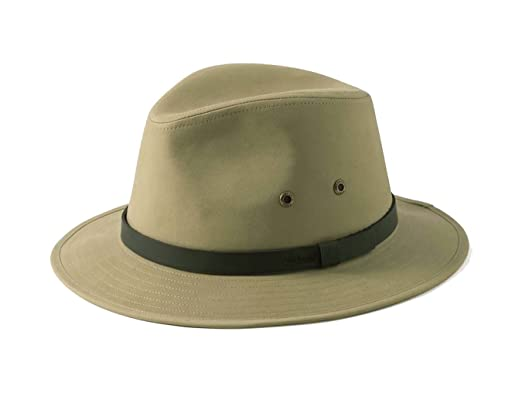 0a980b5e835 Earland Brothers Failsworth Failsoworth Hats Cotton Fedora Hat Ambassador  Khaki Extra Large Brim Hat (M - 57cm Ambassador)  Amazon.co.uk  Clothing