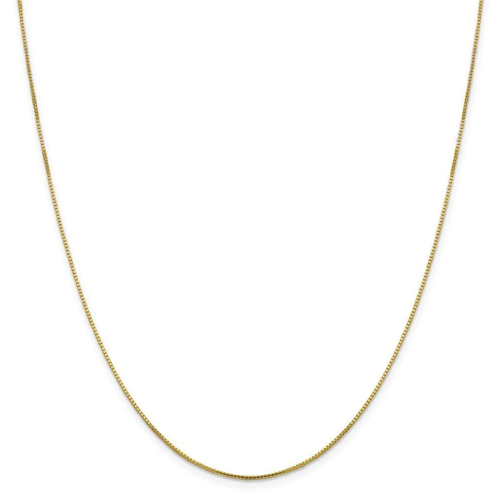 16 18 20 Length Options Leslie 10k .95 mm Octagonal Sparkle Box Chain Necklace