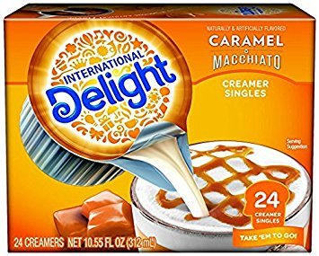 International Delight Single-Serve Coffee Creamers, Inspirations Caramel Macchiato, 24 Count each box (Pack of 2)