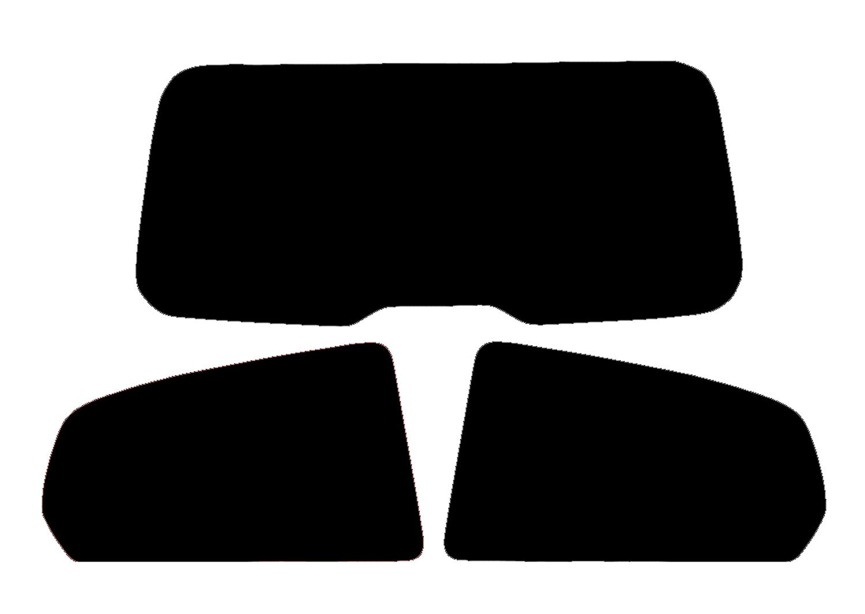 Fiat Grande Punto 3 Door Hatch 2005 to 2015 35/% Medium Tint PSSC Pre Cut Rear Car Window Films