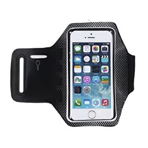 White Gym Running Sport Armband Case Cover for Apple iPhone 5/5s