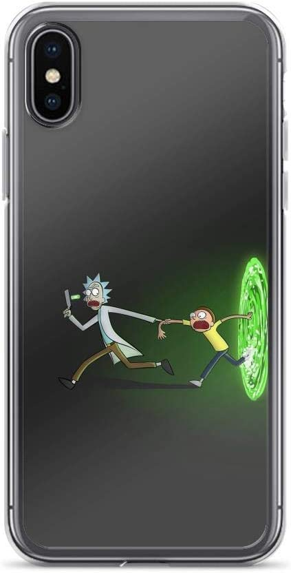 qlesseots Compatible with iPhone 6 Plus/6s Plus Case Morty Rick Universe Adventures Space Portal Pure Clear Phone Cases Cover