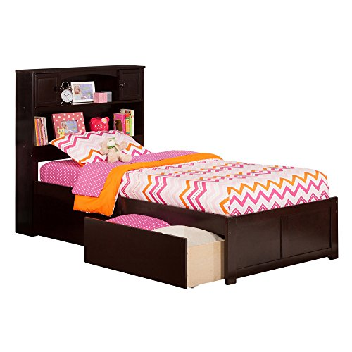 Flat Panel Footboard (Atlantic Furniture Atlantic Newport Espresso Twin XL Flat-panel Footboard 2-drawer Bed)