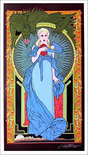 Mother of Dragons Poster Fine Art Giclee Print Signed Bob Masse Art Nouveau Mint - Fine Giclee Art
