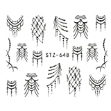 1Pc Fantasy Art Water Sticker Black Simple Diy Model Manicure Foils Decorations Nail Tool
