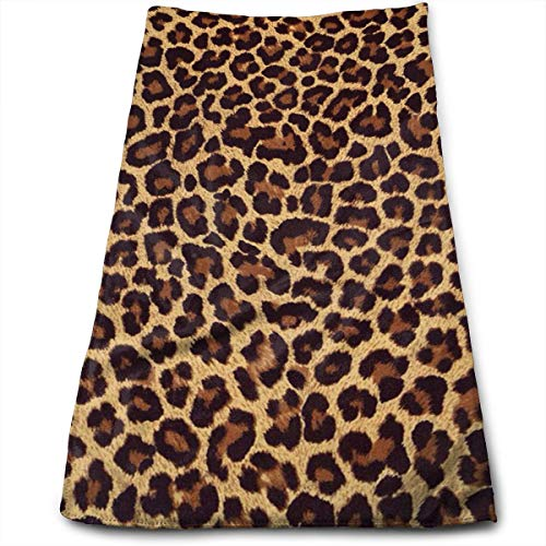 (Cool Cheetah Leopard Compressed Quick-Dry Velour Fingertip Towels Washcloth - Carry-on, Durable, Lightweight, Commercial Grade, Ultra Absorbent - 12x27.5 Inches)
