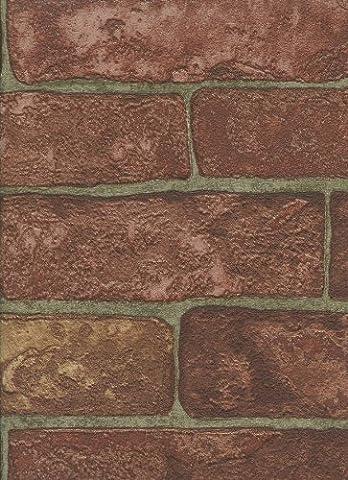 York Wallcoverings RN1032 Modern Rustic Rustic Brick Wallpaper (Fireplace Wallpaper)