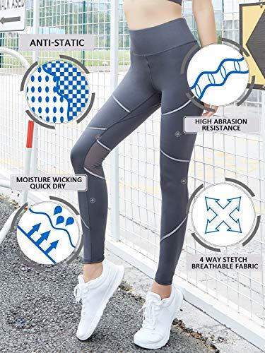 Easy Alta Grigio Shopping Vita Da Di A Con Pantaloni Yoga Stretch Gambaletto Go Vie 4 SrwOgS