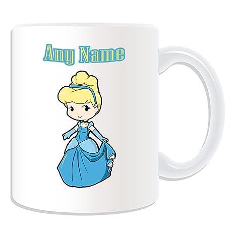 De regalo con mensaje personalizado - Cenicienta/taza diseño de princesas Disney (molde para
