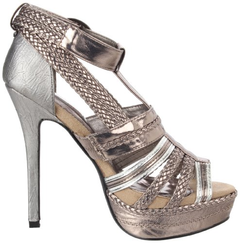 Pewter Two Lips Platform Women's Grecian ggaTWn4
