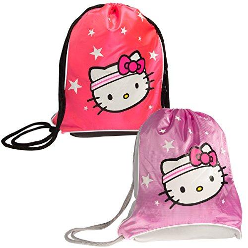 Sanrio Hello Kitty Backpack Sport Sack Pack Girls Sling Bag Tote Metallic Pink