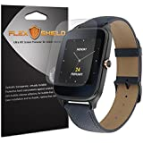 Asus ZenWatch 2 49mm Screen Protector [5-Pack], Flex Shield - Ultra Clear Japanese PET Film with Lifetime Warranty - Bubble-Free HD Clarity with Anti-Fingerprint & Scratch Resistance