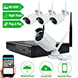 Cheap Wireless Camera System, JOOAN TC-734-4N 960P Wireless Security CCTV Surveillance Systems With 4X1.3MP IP Camera 4CH NVR Plug and Play Indoor/Outdoor –