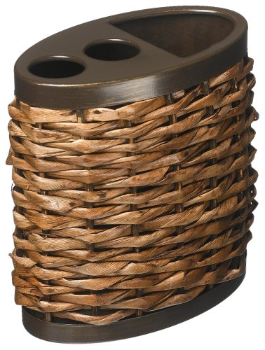 - Tommy Bahama, Retreat Collection, Wicker Toothbrush Holder