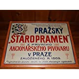 STAROPRAMEN SIGN COLLECTORS METAL SIGN PRAZSKY STAROPRAMEN Z PRVNIHO V PRAZE ZALOZENEHO NEW & SEALED 16 INCH BY 12 INCH by STAROPRAMEN SIGN