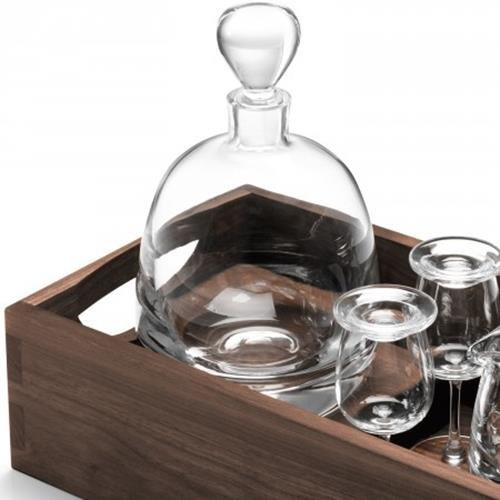 LSA International Whisky Islay Connoisseur Set & Walnut Tray, 17.5''