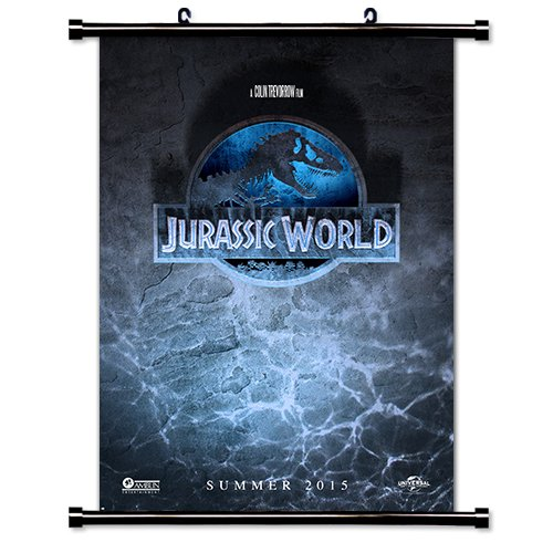 Jurassic World Movie Fabric Wall Scroll Poster  Inches