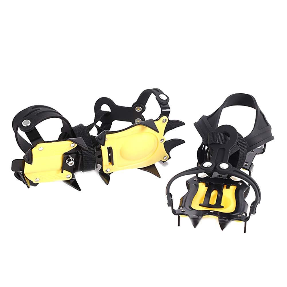 LHMY Schuh Spikes,Rutschfester Schuh aus rostfreiem Edelstahl für Steigeisen Geeignet zum Wandern, Wandern, Camping, Klettern, Jagen