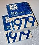 1979 Buick All Series Chassis Service Manuals (Skyhawk, Skylark, Century, Regal, Lesabre, Estate Wagon, Electra, Park Avenue, Riviera, 2 Volume Set)