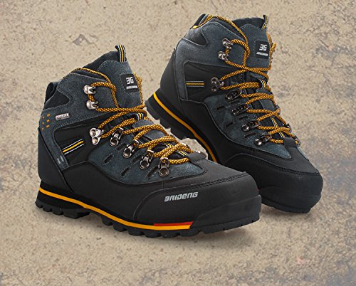 Breathable Sneakers Hip Boots Fashion Shoes Sport Black Casual Mens Top Mountain Boots Leather GOMNEAR Yellow Sneakers Athletic Trekking Climbing Hiking w7Ifqf