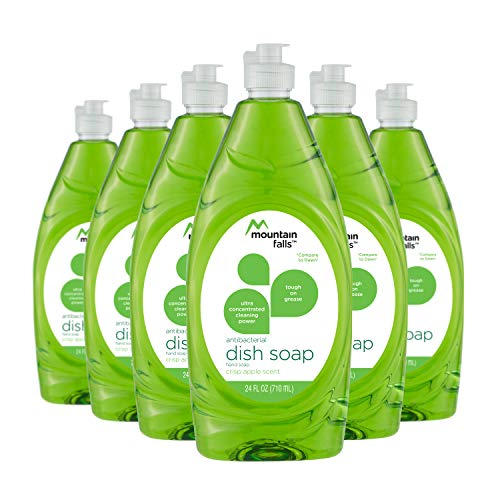 Mountain Falls Ultra Concentrated Dish Soap and Antibacterial Handsoap, Crisp Apple, Compare to Dawn, 24 Fluid Ounce