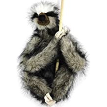 Shlomo the Three-toed Sloth | 18 Inch Super Realistic Large Stuffed Animal Plush Toy with Magnetic Paws | By Tiger Tale Toys