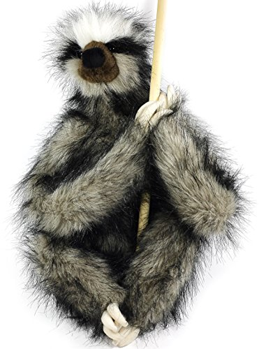 Shlomo The Three Toed Sloth   18 Inch Super Realistic Large Stuffed Animal Plush Toy With Magnetic Paws   By Tiger Tale Toys