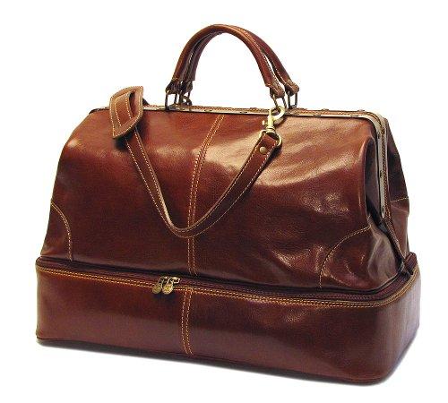 Floto Positano Grande Vecchio Brown Leather Luggage Travel Bag by Floto
