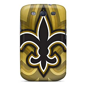 Durable Cases For The Galaxy S3- Eco-friendly Retail Packaging(new Orleans Saints)