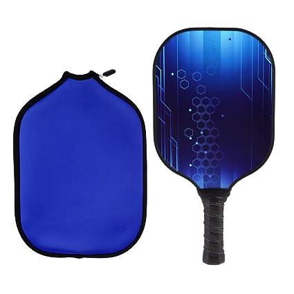 Baoblaze Pickleball Paddle Raqueta y Manga de Cubierta de Protector Azul