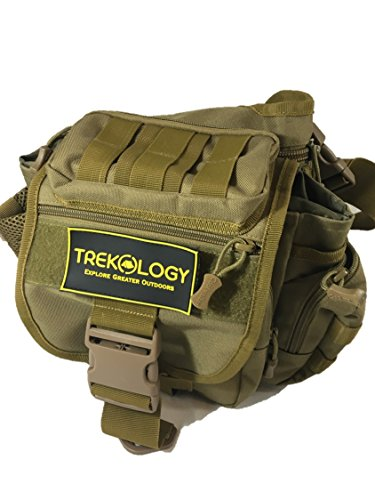 Trekology Multifunctional Outdoor Sling Bag - Everyday Messenger Bag / Camera Bag / Tactical Bag, 11'' x 10'' x 5.5'', Fits 9'' Tablet such as IPAD Air