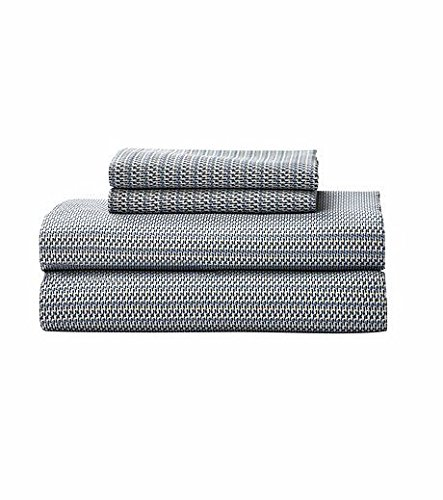 Calvin Klein Home City Plaid, Queen Sheet Set, Storm, 3 Piece ()
