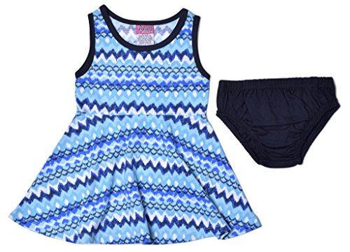 Baby-Girls-Knit-Dress-and-Panty-Set-Sleeveless-Casual-Print-Infant-0-24-Months