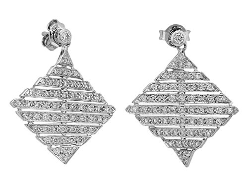 Birgie Diamants et Bijoux -Boucles d'Oreilles Diamants-Femme- or Blanc 204E0001
