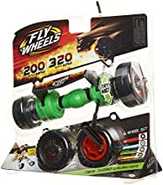 Fly Wheels Twin Turbo Launcher, Rip It! (1) Blue Dual Launcher Handle, (4) Battling Wheels, (1) Burst Ripcord,