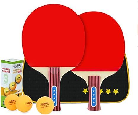 xianw Mesa de Ping Pong Paleta Set - 2 Raquetas 3 Bolas ...